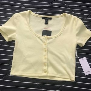 Light yellow crop top!